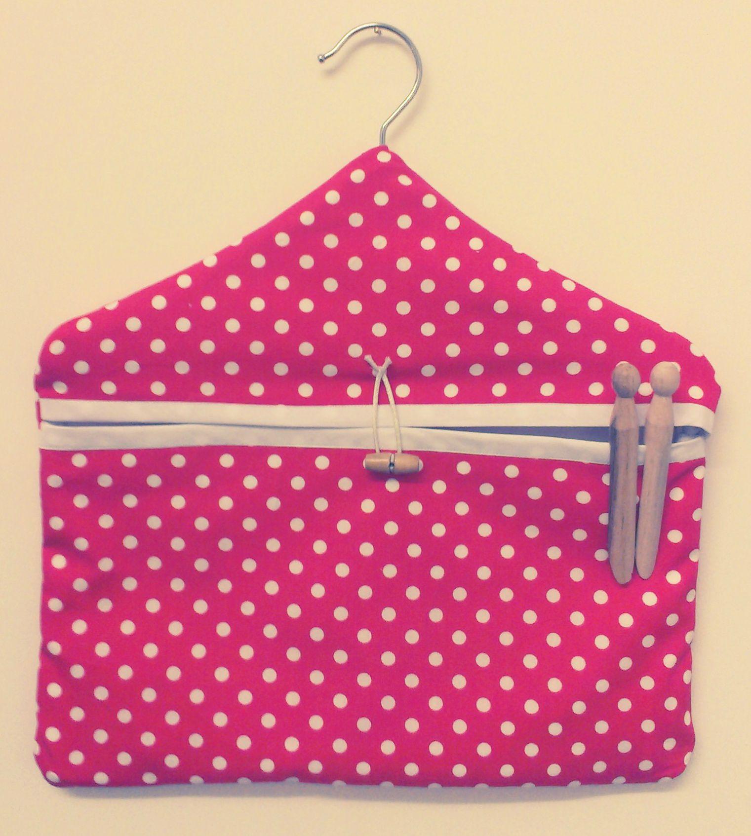 HANDMADE CLOTHES PIN BAG